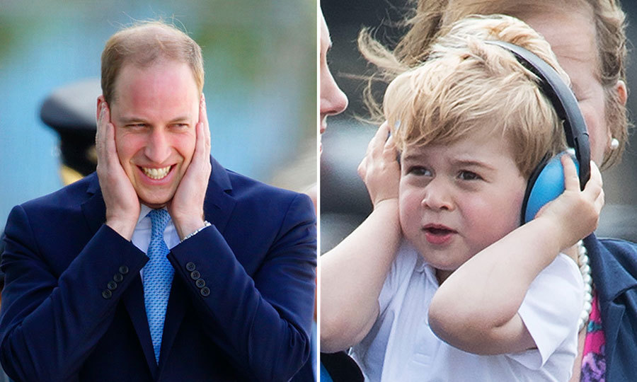 It looks like sensitive ears run in the Windsor family! Both William and George shielded themselves from loud noise, while out and about at engagements.