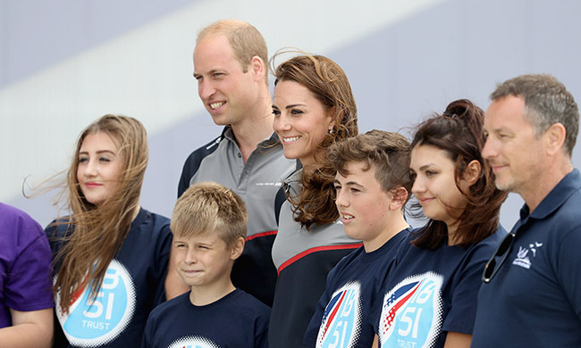 Prince William and the Duchess of Cambridge were all smiles as they attended the America's Cup World Series in Portsmouth, England.