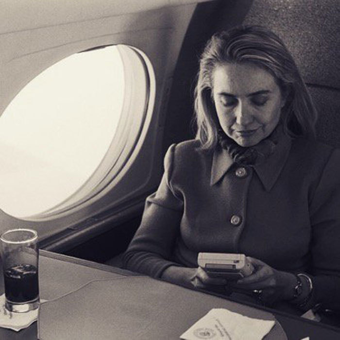 "Everyone knows the presidential nominee is a fan of Twitter, but as it turns out she is a gamer too. In a vintage photo Chelsea said, ""Here she is taking a rare moment to relax by playing with a Game Boy on Air Force One.""