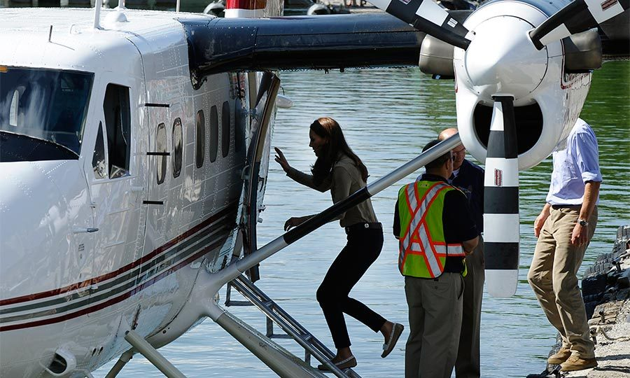On day six of the royal tour, the pair jumped on board a float plane that took them to Blachford Lake in the Northwest Territories.