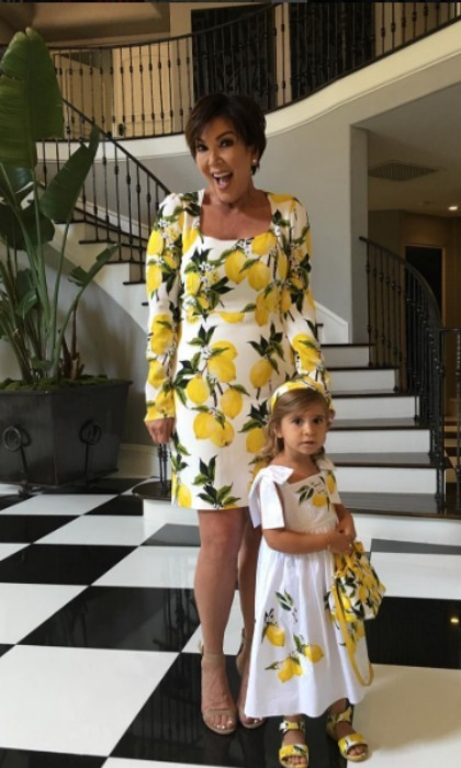 <b>Kris Jenner and Penelope Disick</b>