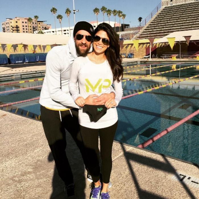 "<b><a href=""https://us.hellomagazine.com/tags/1/michael-phelps/""><strong>Michael Phelps</strong></a> and Nicole Johnson</b>