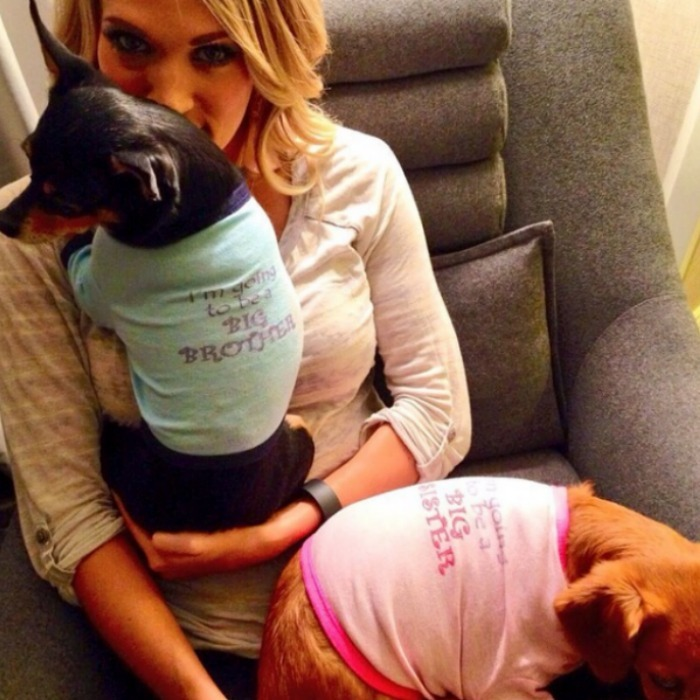 "<b><a href=""https://us.hellomagazine.com/tags/1/carrie-underwood/""><strong>Carrie Underwood</strong></a> and Mike Fisher</b>