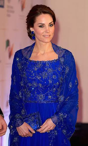 Kate did not disappoint for her highly-anticipated appearance at the Bollywood gala. The Duchess of Cambridge stunned in a royal blue gown by her favorite designer Jenny Packham.
