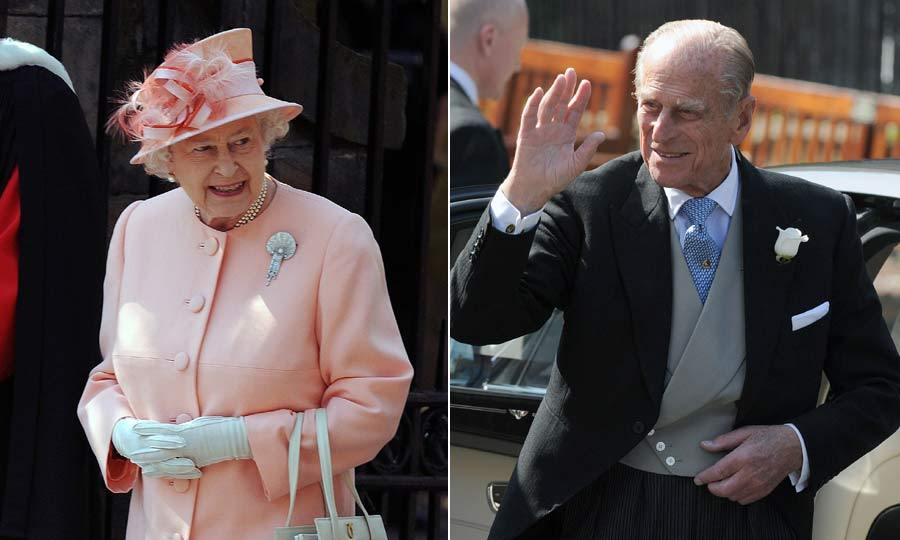Zara's grandparents, Queen Elizabeth and Prince Philip, looked incredibly proud as they left the church following the 'I do's'.