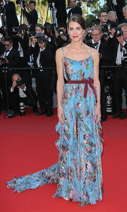 Stealing the show in one of her favorite looks – Gucci florals – at the Cannes Film Festival in 2015.