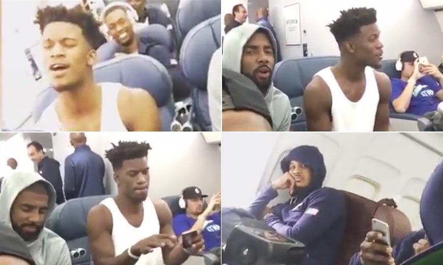 <b>The US Men's Olympic basketball team belt out <i>A Thousand Miles</i>, on way to Rio</b>