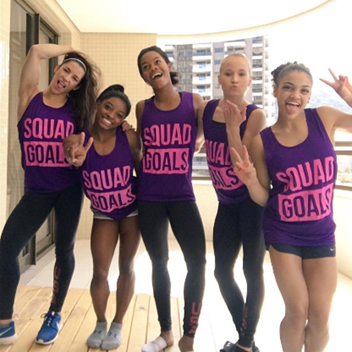 <b>US gymnastics team #SquadGoals in Rio</b>