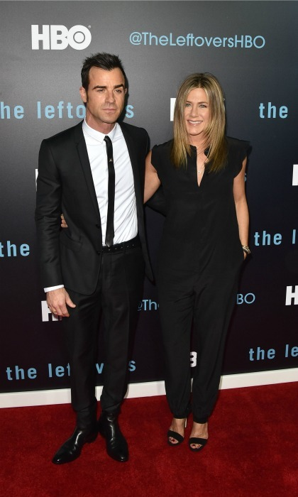 After celebrating in private for a few months, Jennifer and Justin made their first appearance as a married couple during the season two premiere of <i>The Leftovers</i> in Austin, Texas. 
