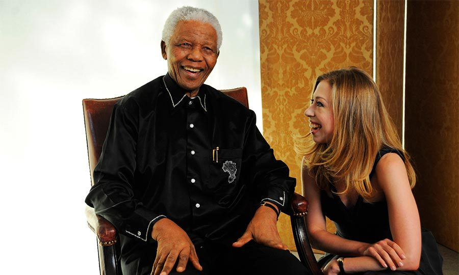 Chelsea was on hand to help Nelson Mandela ring in his 90th birthday in London. The political consultant was among others who had flown in from around the world to celebrate the icon's milestone birthday in 2008.
