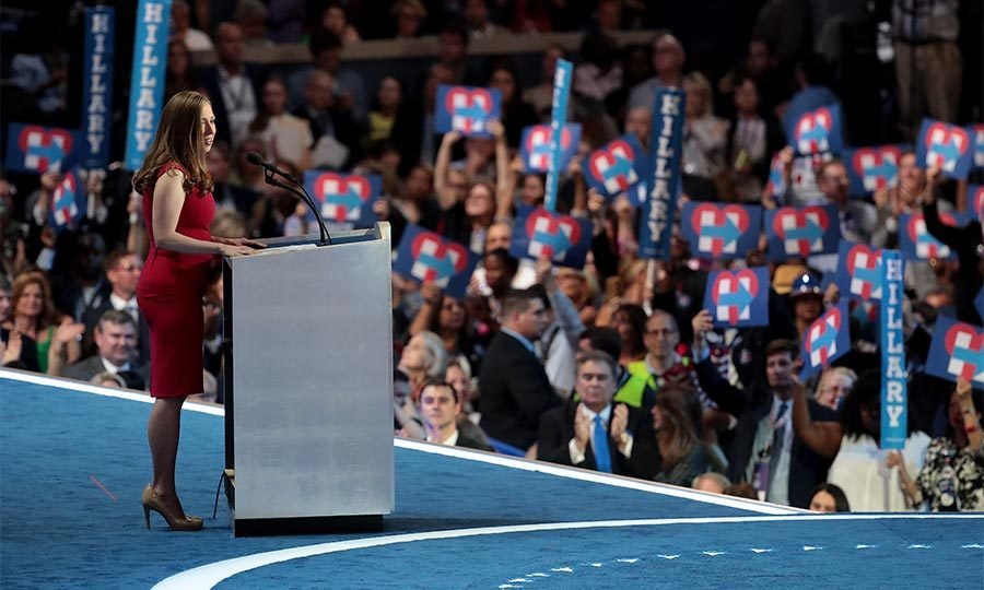 On the fourth day of Democratic National Convention in Philadelphia, Chelsea was given the honor of introducing her mother to the waiting crowds. The 36-year-old spoke about her 'pride' for her mother as she heads into the final stages of her presidential campaign.