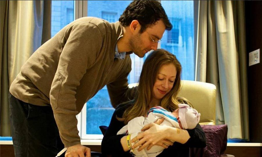 Marc and Chelsea were delighted to welcome their first child, a girl, Charlotte Clinton Mezvinsky on September 26, 2014.