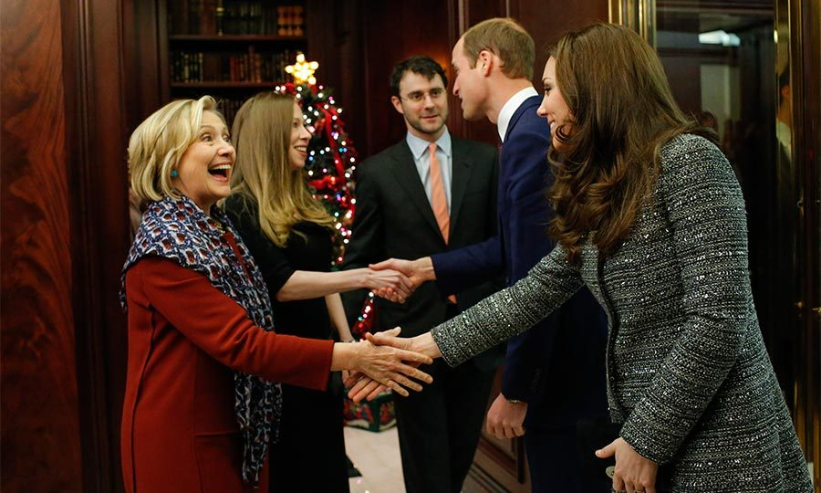 During Prince William and Kate Middleton's visit to NYC,  Chelsea and her mom met with the royals.
