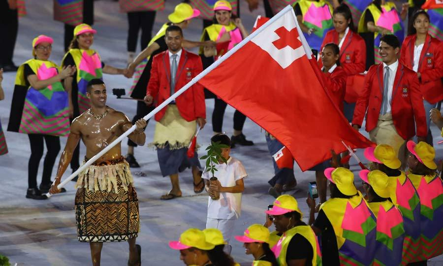 <b>Tonga's flag bearer</b>
