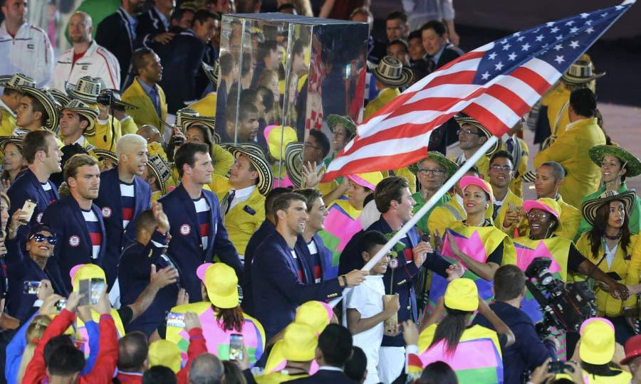 <b>Team USA at the Opening Ceremony</b>