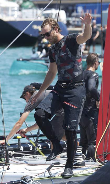 Sailing fan Pierre Casiraghi couldn't wait to get his boat, Malizia, out of the waters to compete in the Copa Del Rey Mapfre Sailing Cup in Mallorca.