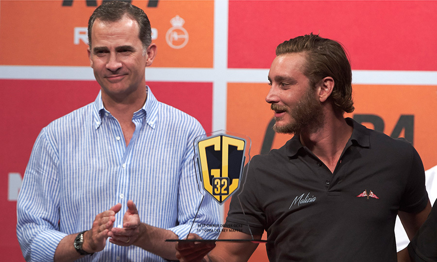 Pierre and another major sailing fan, Spain's King Felipe, who was also taking part in the awards ceremony.