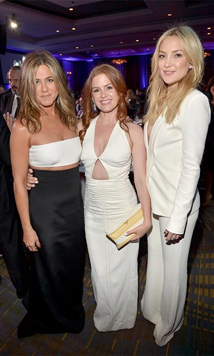 "<a href=""https://us.hellomagazine.com/tags/1/isla-fisher/"" target=""_blank""><strong>Isla Fisher</strong></a> is all about celebrating her new post-pregnancy bod. After welcoming Montgomery Moses in March 2015, the actress joined friends Jennifer Aniston and Kate Hudson 29th American Cinematheque Awards in October.
