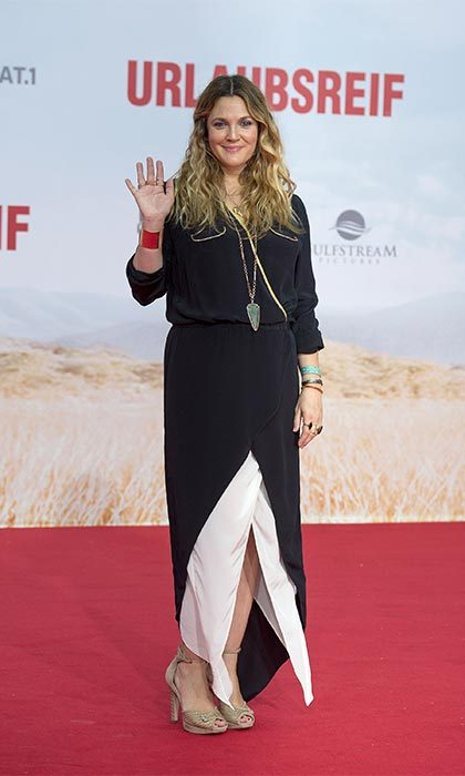 "<a href=""https://us.hellomagazine.com/tags/1/drew-barrymore/"" target=""_blank""><strong>Drew Barrymore</strong></a> looked stunning as she attended the premiere of <i>Blended</i> only a month after giving birth to her second daughter Frankie. The actress said that she was enjoying spending time with her children and not thinking about her body.