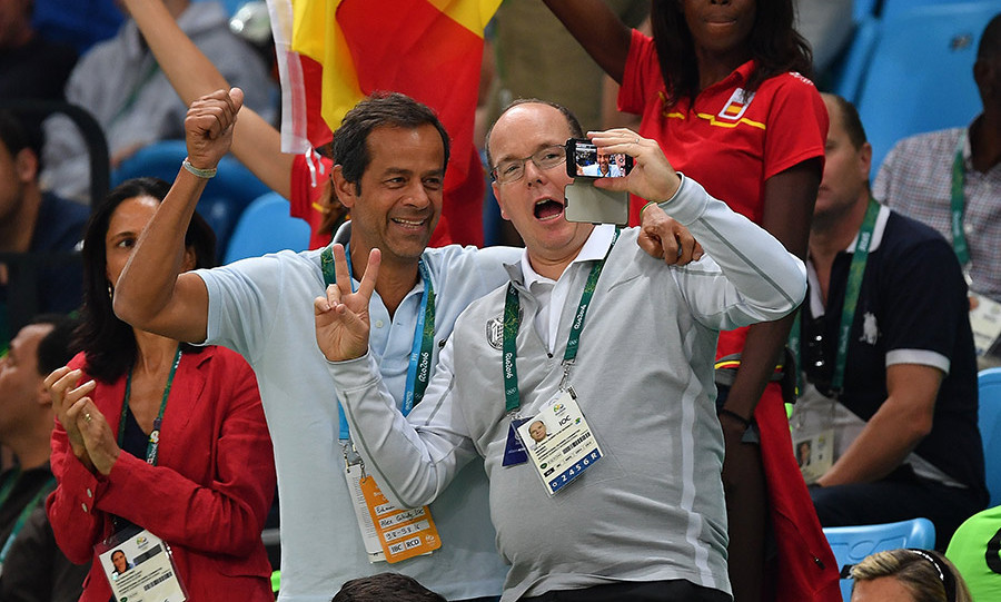 Prince Albert of Monaco, a member of the International Olympics Committee, has been a regular fixture at various events.