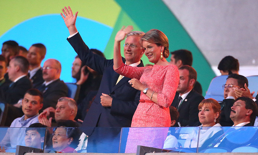 King Philippe and Queen Mathilde of Belgium were also among the notable guests at the opening ceremony.