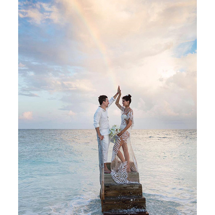 The model has been sharing images from their big day on her Instagram page. 