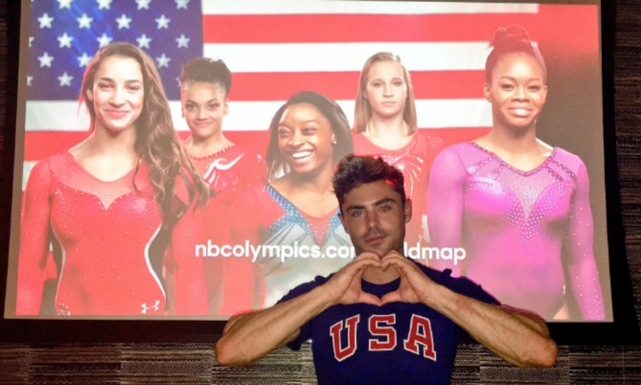 <b>Simone Biles' and Zac Efron's mutual admiration</b>