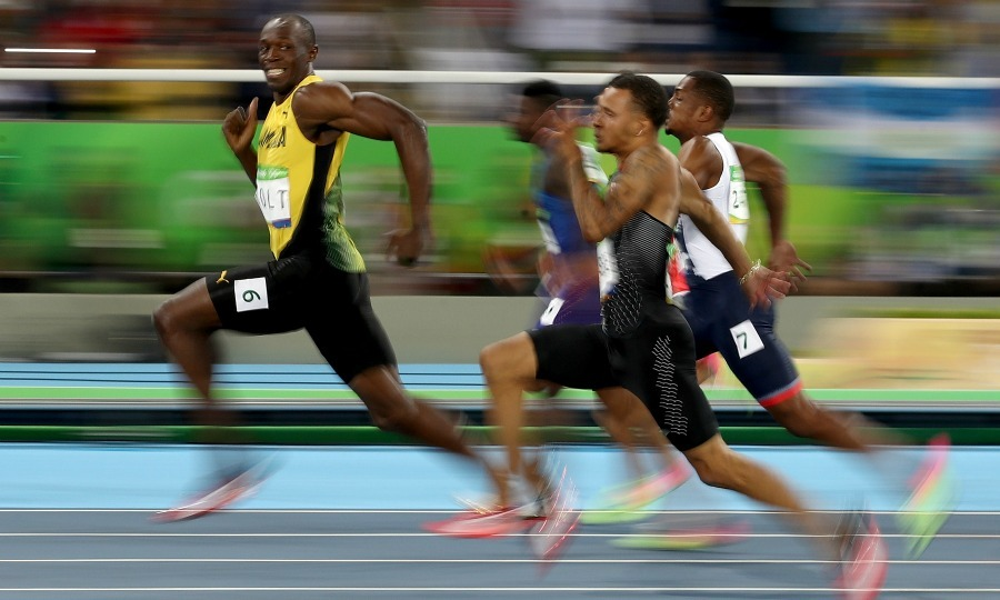 <b>Usain Bolt, and this photo, proves that he is the fastest man in the world</b>
