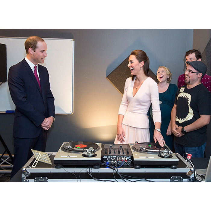 Hey <i>Mr. - and Mrs. DJ</i>! The pair had fun spinning tracks during their royal tour of Australia in 2014.