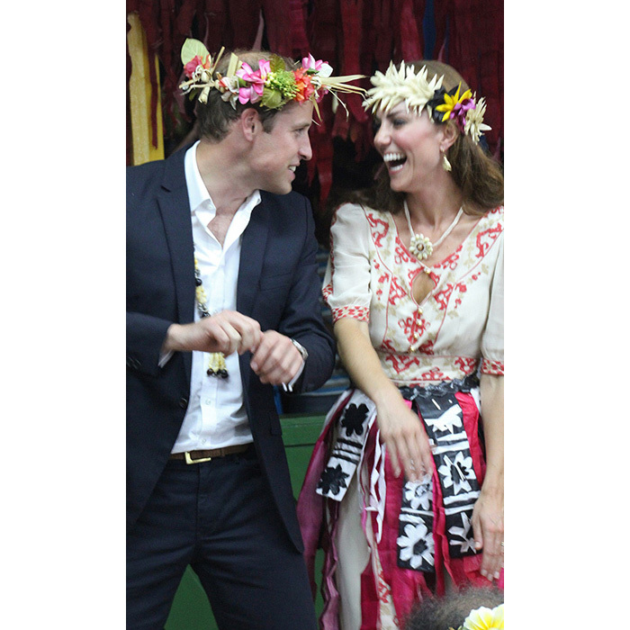 They've got the moves and the giggles! William and Kate laughed it up as they danced together in 2012, while visiting the Pacific Island of Tuvalu.