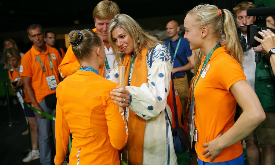 After her historic victory,  Sanne Wevers was joined on the floor by Queen Maxima and her family, who gave her celebratory hugs and congratulations. 