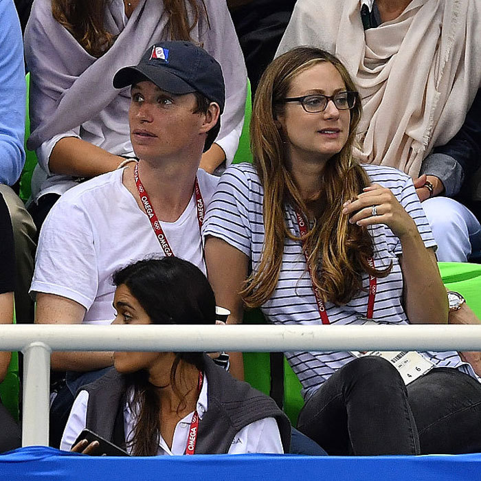 "New parents <a href=""https://us.hellomagazine.com/tags/1/eddie-redmayne/""><strong>Eddie Redmayne</strong></a> and Hannah Bagshawe left daughter Iris behind to attend the Men's 100m breaststroke competition in Rio. 