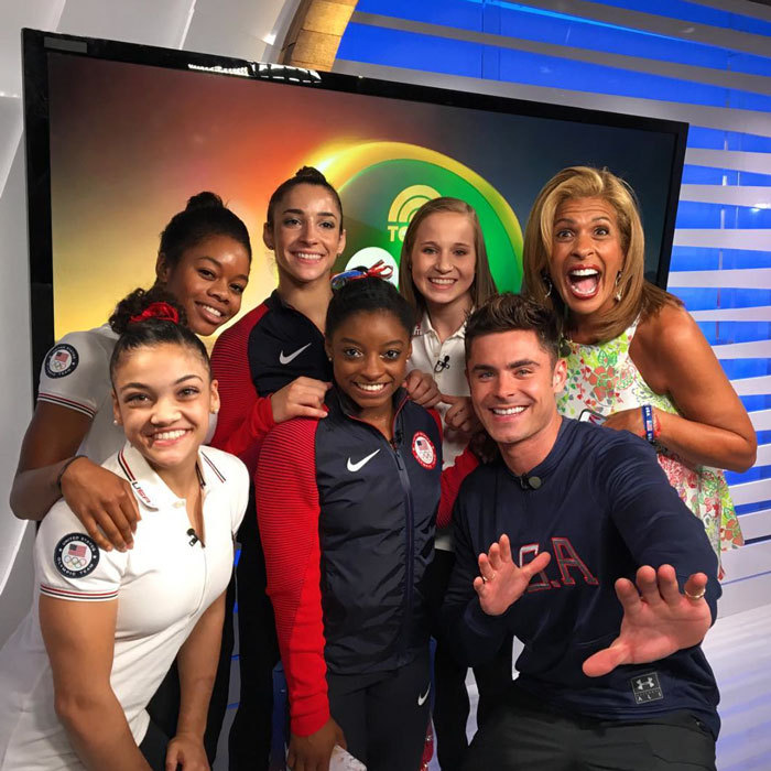 "A dream come true! <a href=""https://us.hellomagazine.com/tags/1/zac-efron/""><strong>Zac Efron</strong></a> surprised the Final Five, USA's women's gymnastics team in Rio. 
