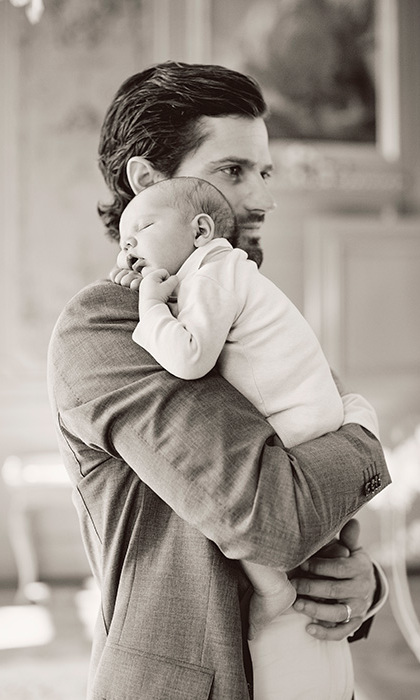 "Alongside this adorable picture of the new dad gently holding the little Prince on his shoulder, Carl Philip and Sofia wrote: ""We would in this way like to convey our sincere gratitude for all the congratulations we received in connection with our son, Prince Alexander's, birth. We genuinely appreciate your kindness and considerations.""