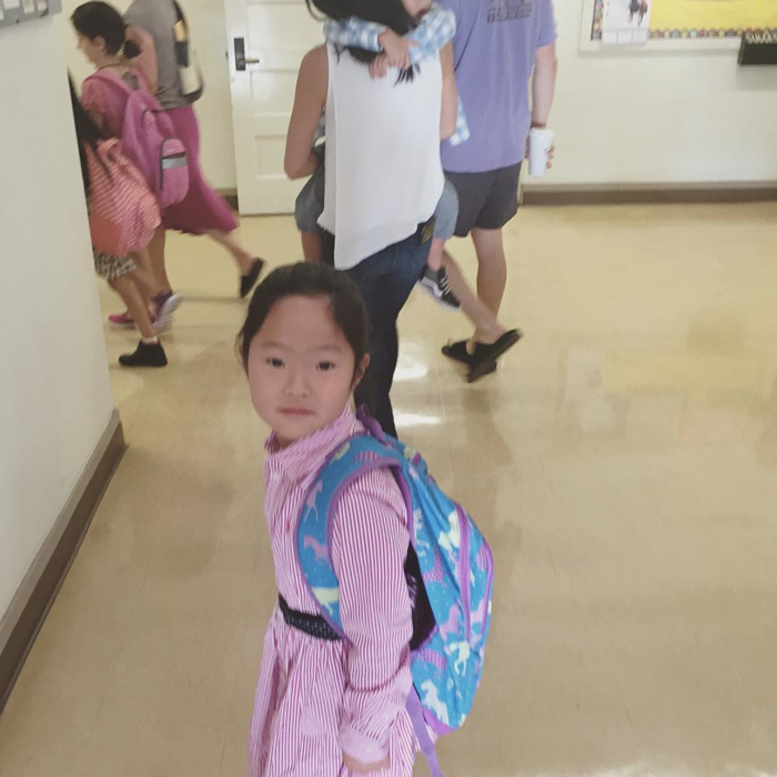 "Backpack ready to go! Singer Josh Kelley shared a snap of his and <a href=""https://us.hellomagazine.com/tags/1/Katherine-Heigl/""><strong>Katherine Heigl</strong></a>'s oldest daughter Naleigh heading off to school. The proud dad captioned the photo, ""My 1st baby's 1st day of 2nd grade!!!! Lotta numbers there!! Haha- go Naleigh!!!""