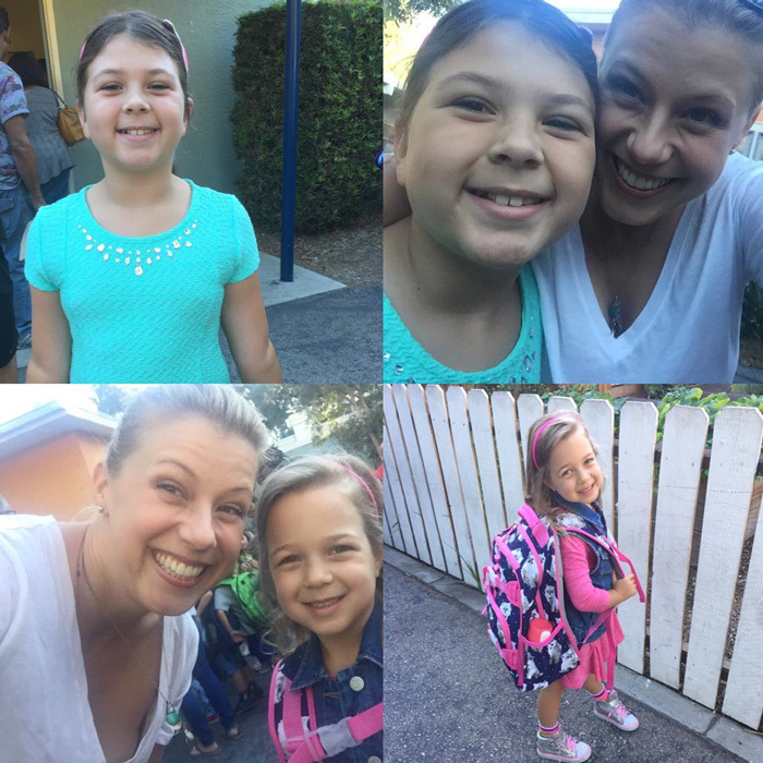 "They grow up so fast! <i>Fuller House</i> star, <a href=""https://us.hellomagazine.com/tags/1/Jodie-Sweetin/""><strong>Jodie Sweetin</strong></a> commemorated her daughters,  Zoie Herpin and Beatrix Coyle's first day of school with a collage, writing, ""My babies are getting so big!! (They'd hate that I called them that!!) #firstdayofschool #timeflies.""