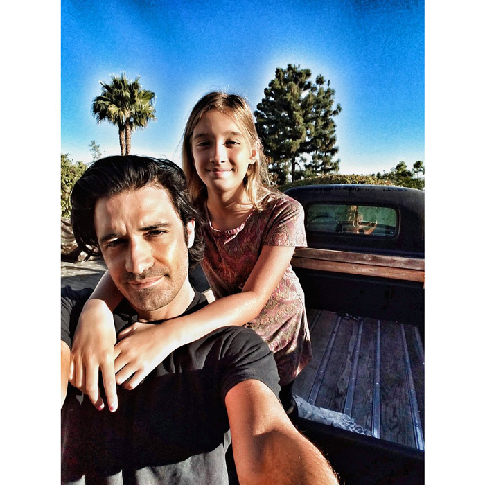 "Gilles Marini was more anxious about his daughter Juliana's first day of school than she was! The actor tweeted a tender photo of him with his little girl writing, ""She's like: ""Dad, it's ok I'm going to 5th grade. I'll be just fine"" #dadsproblem.""