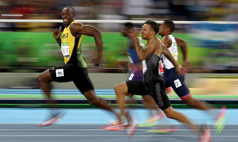 <b>Usain Bolt achieves the triple treble</b>