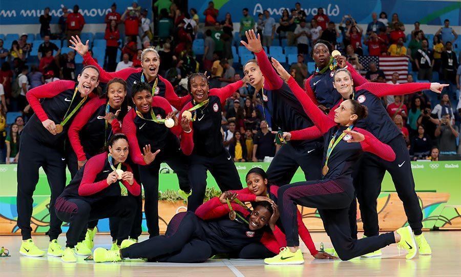 You can't stop them! The US women's basketball team made it six when they beat the Spanish squad to take gold on Saturday afternoon. 