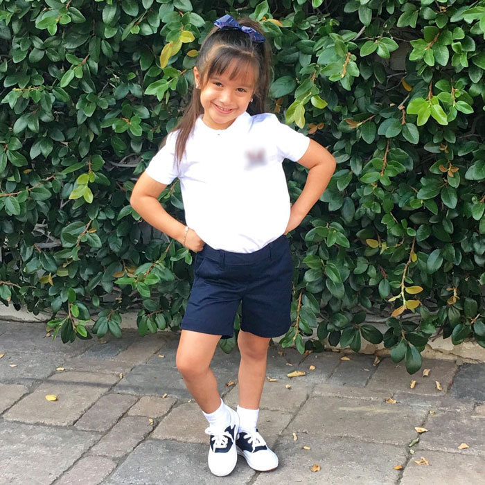 "<b>Mario Lopez</b>'s daughter Gia looked adorable for her first day of school. The proud dad tweeted a photo of his little girl writing, ""Here we go... Gigi's first day of Kindergarten at her new Catholic school. God Bless my baby!""