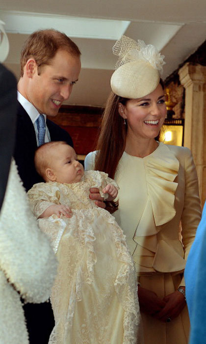 Three months after he was born, Prince George was christened in the chapel royal at St. James' Palace in London.