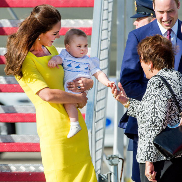 The young Prince charmed the governor general's wife upon arriving in sunny Sydney, Australia during the tour.