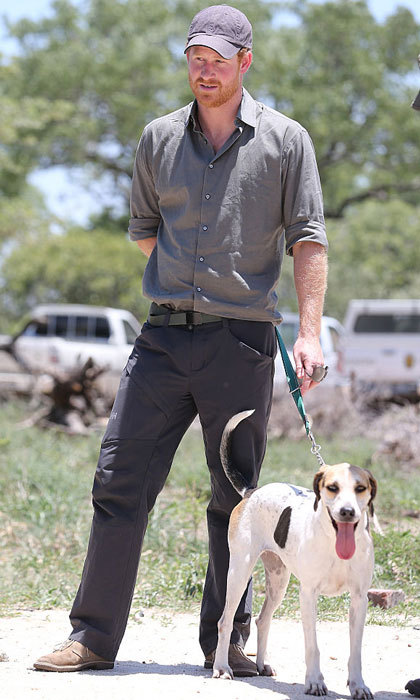 Sign us up to dog walk with him! Prince George's uncle walked a Ranger Tracker dog, while visiting the South African Wildlife College in 2015.