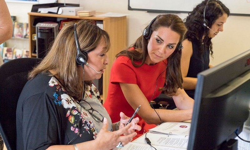"During the low-key visit, Kate opened up about her two children, Prince George and Princess Charlotte, and how the helpline is an ""impressive"" way to aid parents who are seeking advice and a helping hand. 