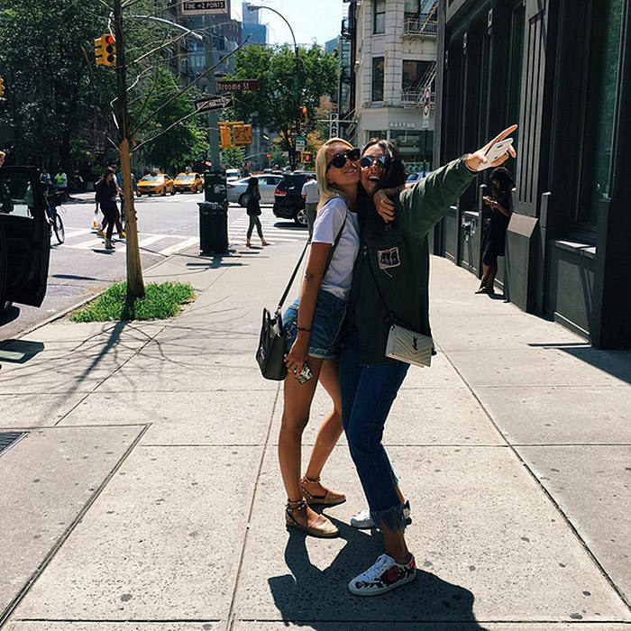 After a fabulous summer and 20th birthday celebration in Mykonos, Princess Olympia of Greece, left, returned to New York City to start classes at Parsons.