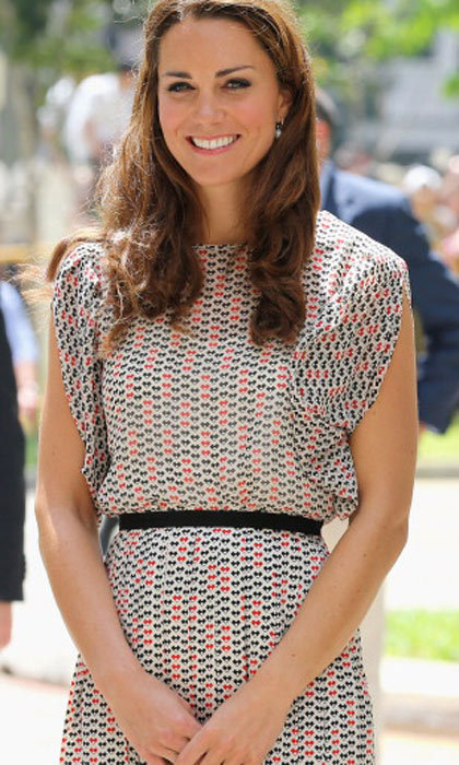 Kate dons this fun Alexander McQueen dress for the Singapore stop during the Diamond Jubilee Tour. 