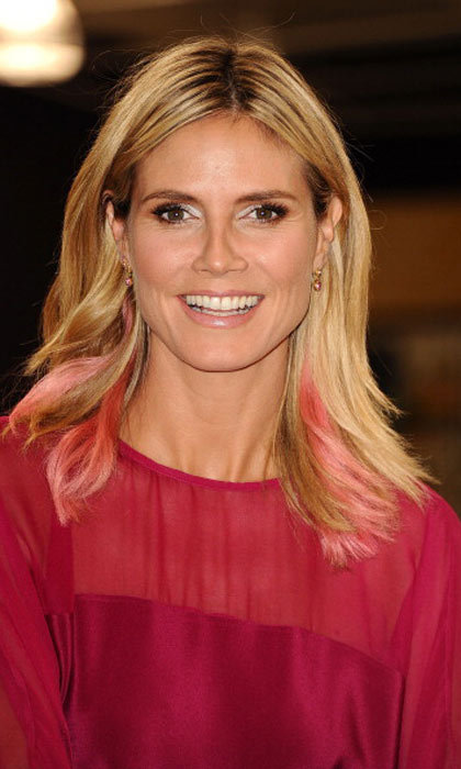 "<a href=""https://us.hellomagazine.com/tags/1/heidi-klum/""><strong>Heidi Klum</strong></a> added a subtle pop of pink between her blonde locks. 