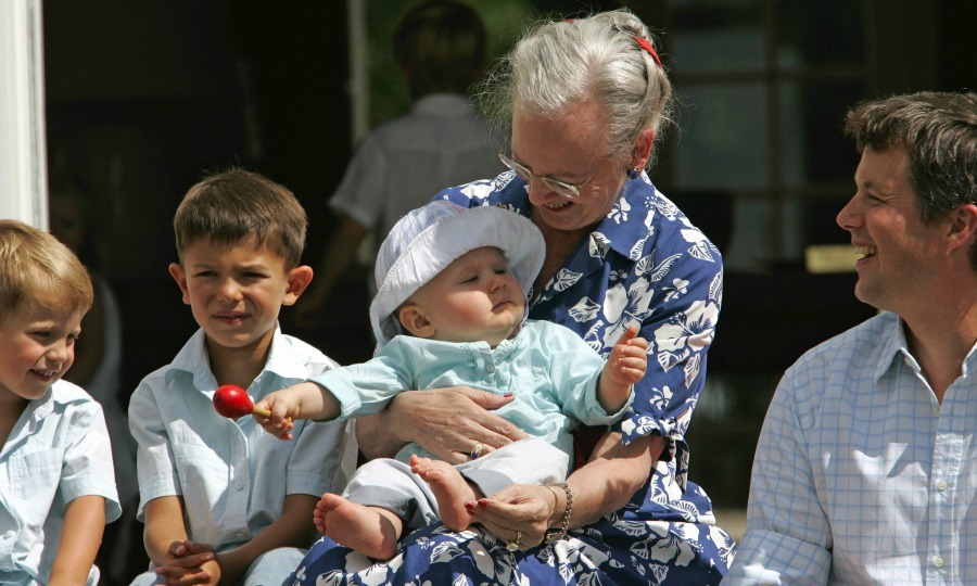 The following year, Nikolai, sat alongside his grandmother Queen Margrethe as she held on to his cousin Christian – Denmark's future King and son of Crown Prince Frederik and Crown Princess Mary – during a family gathering.