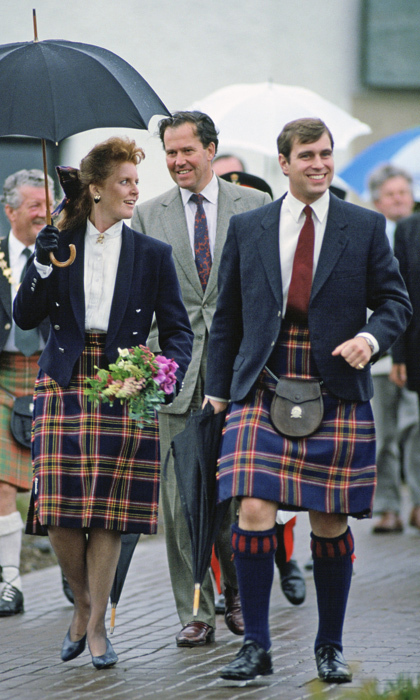 "<a href=""https://us.hellomagazine.com/tags/1/prince-andrew/""><strong>Prince Andrew</strong></a>, matched his kilt to the skirt of then-wife Sarah Ferguson during an official visit to Scotland in 1987. 