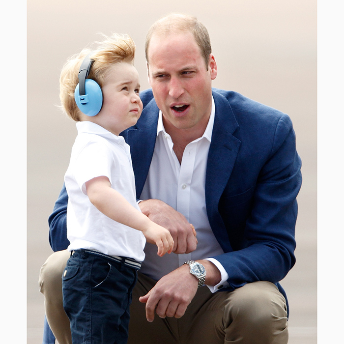 Experienced pilot Prince William was on hand to explain all the details to his little boy.